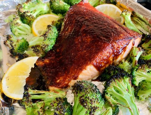 Sheet Pan Miso Glazed Salmon with Broccoli – Recipe!