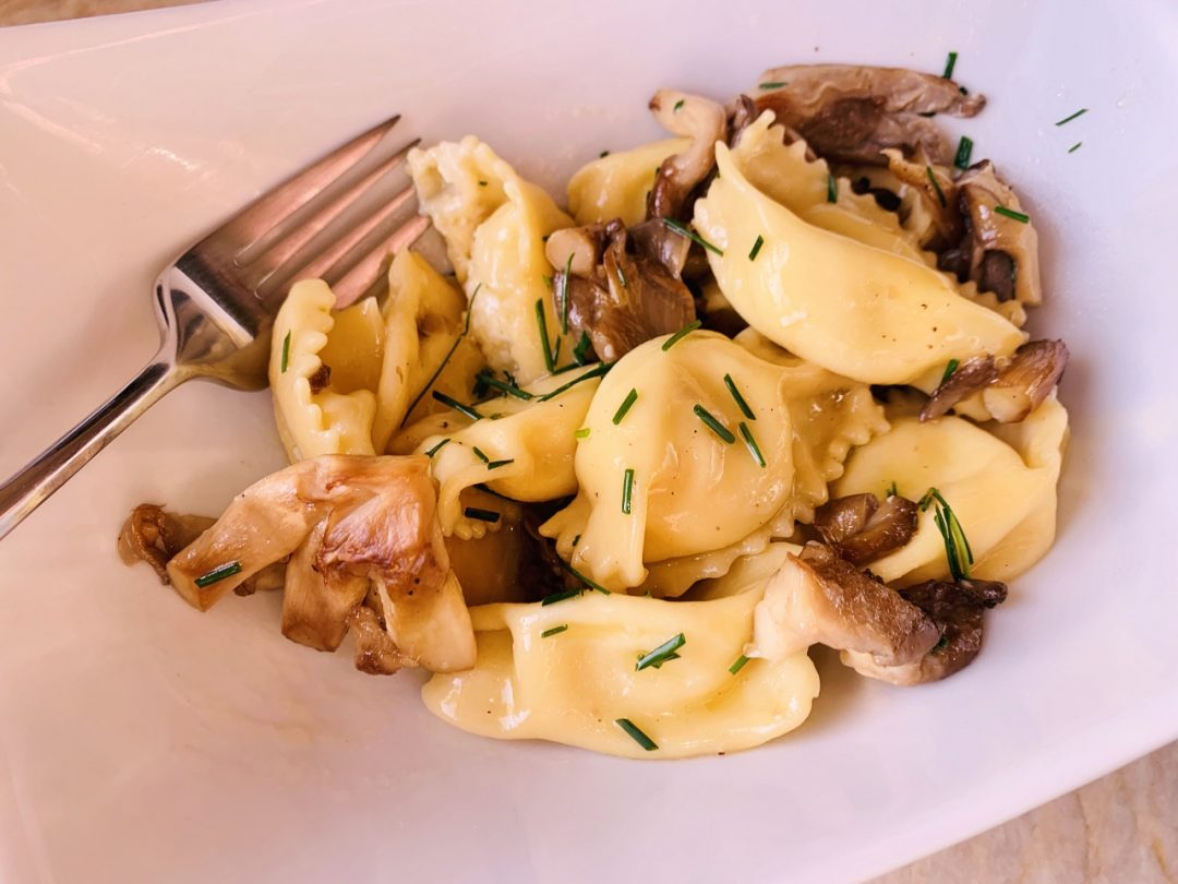 Sweet Corn Agnolotti with Brown Butter Mushroom Sauce – Recipe & Video! Image 1