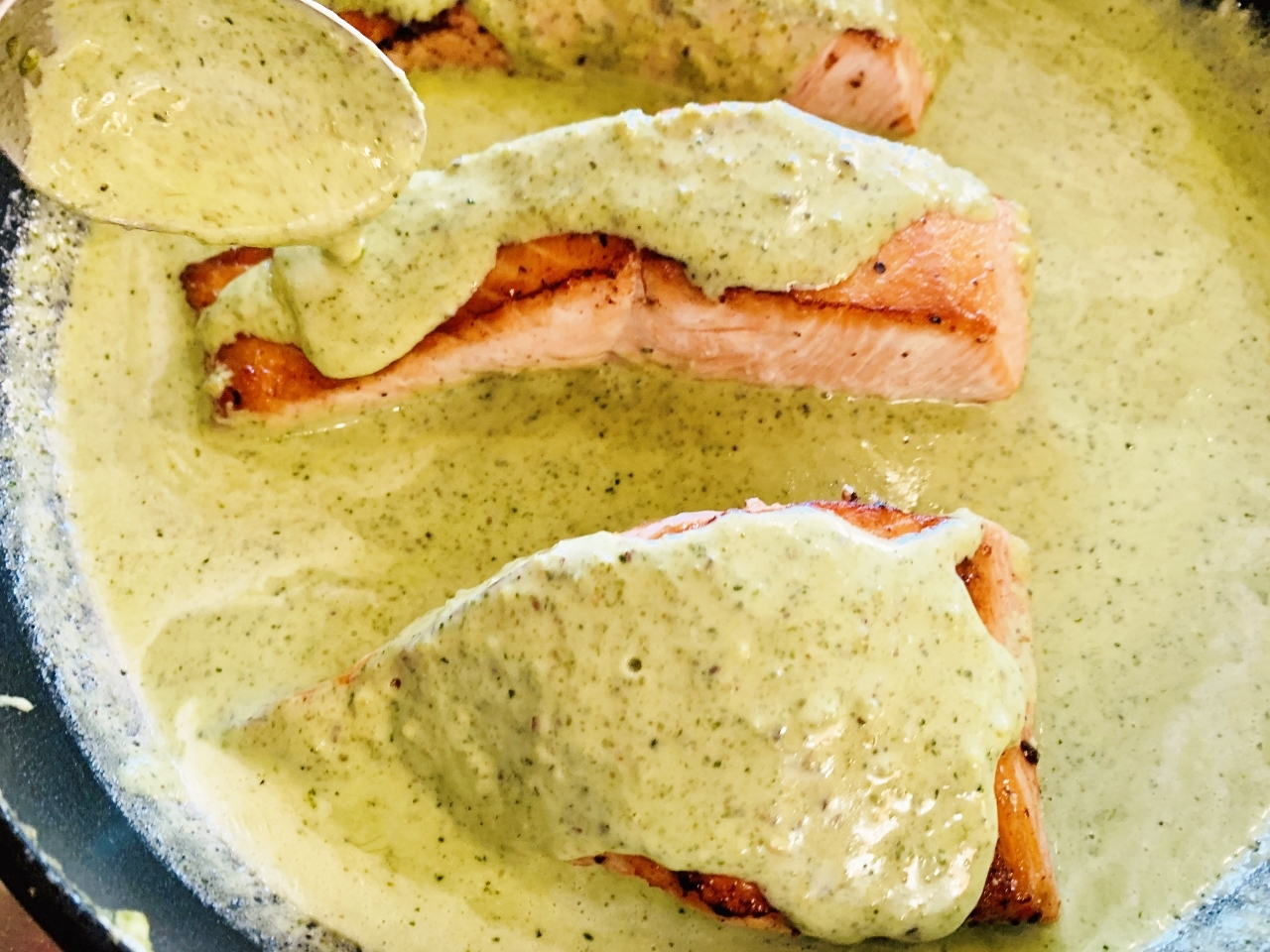 4-Ingredient Creamy Pesto Salmon – Recipe! Image 2