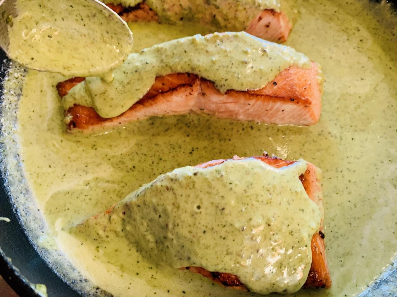 Creamy Pesto Salmon – Recipe! Image 2