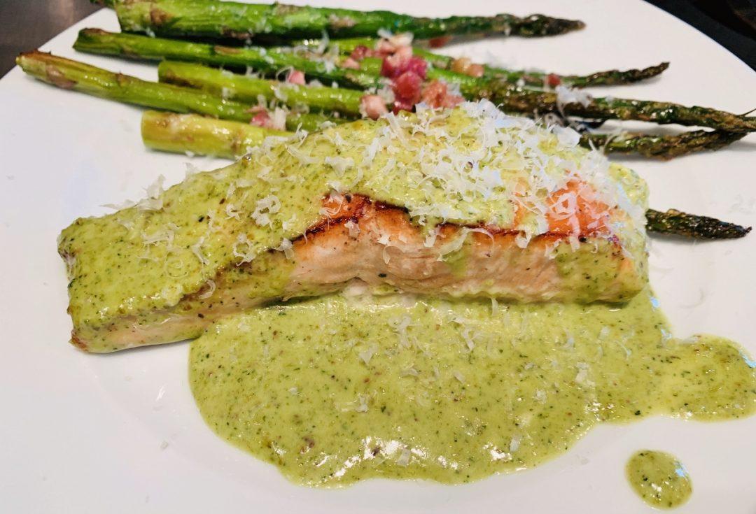 Creamy Pesto Salmon – Recipe! Image 1