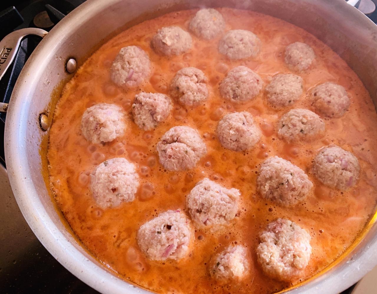 Turkey Meatballs in Vodka Sauce – Recipe! Image 5