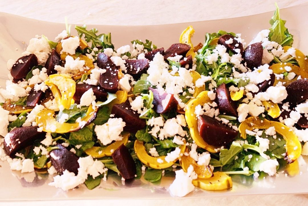 Roasted Delicata Squash, Beet & Feta Salad – Recipe! Image 1
