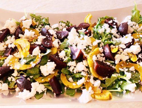 Roasted Delicata Squash, Beet & Feta Salad – Recipe!