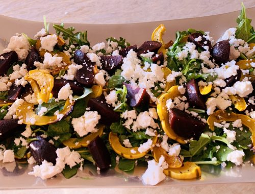 Roasted Delicata Squash & Beet Salad – Recipe!