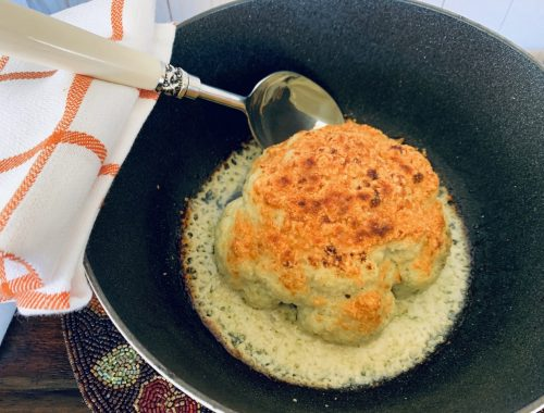 Parmesan Crusted Whole Cauliflower – Recipe!