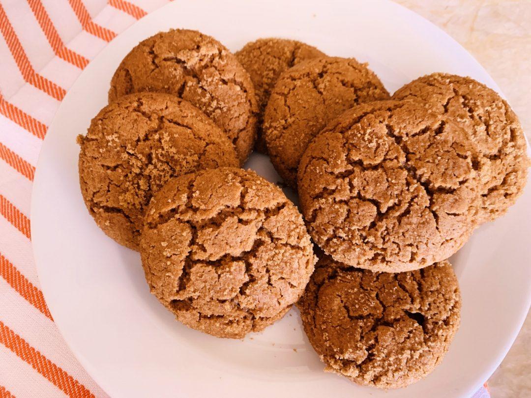 Spelt Ginger Crinkle Cookies – Recipe! Image 1