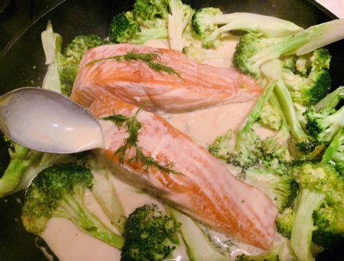 Salmon & Broccoli Dijon – Recipe!