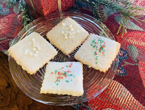 Vanilla Bean Glazed Shortbread Cookies – Recipe!