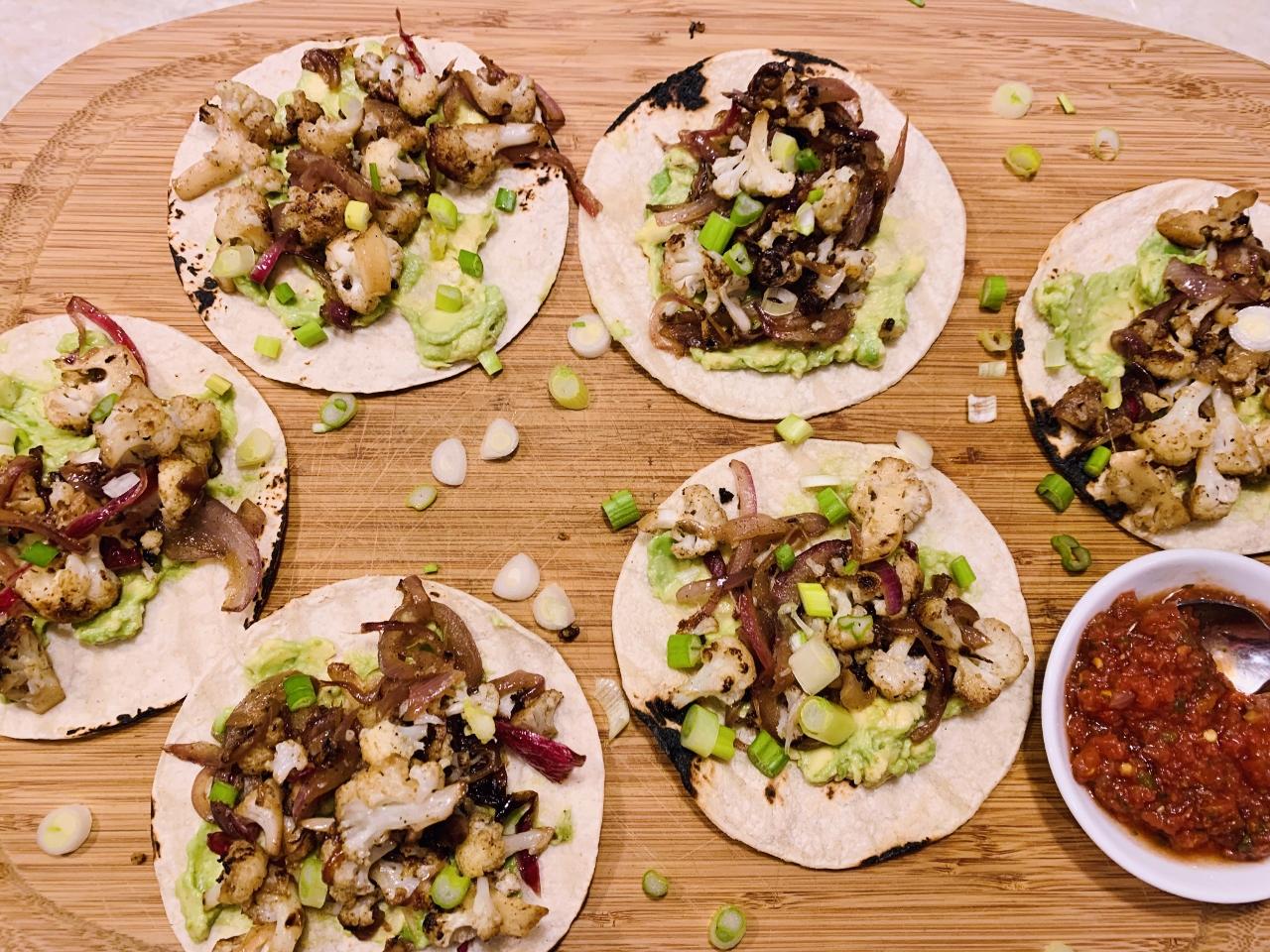 Cauliflower & Caramelized Onion Tacos with Avocado Mash – Recipe! Image 2