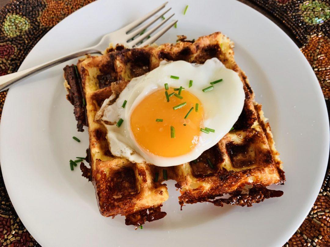 Cheesy Cauliflower Waffles – Recipe! Image 1