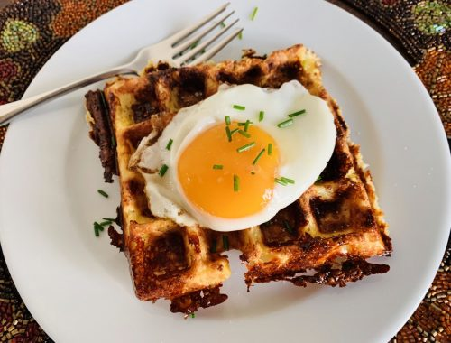 Cheesy Cauliflower Waffles – Recipe!