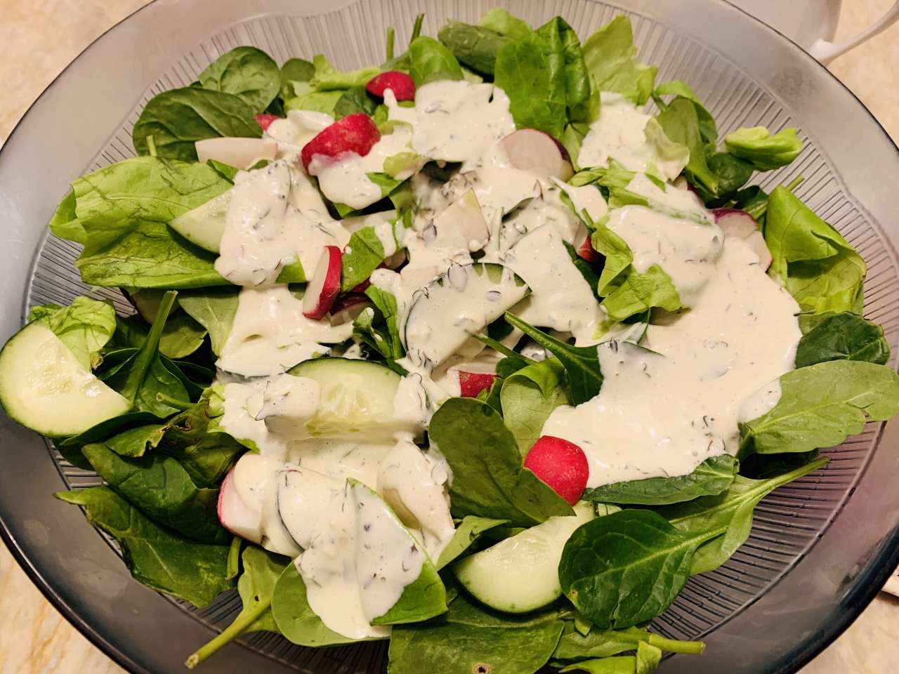 Cucumber & Radish Salad with Creamy Buttermilk Dressing – Recipe! Image 4