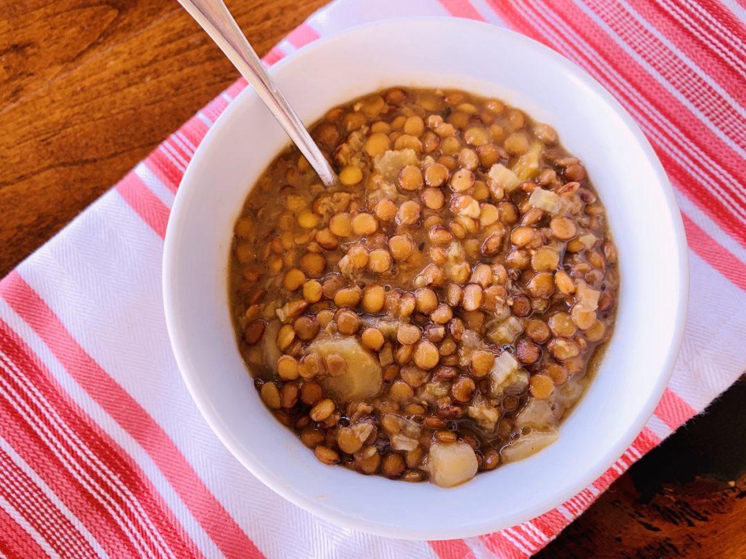 Instant Pot Lentil & Leek Soup – Recipe! Image 1