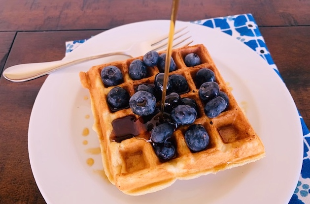 Sourdough Waffles with Blueberries – Recipe! Image 1