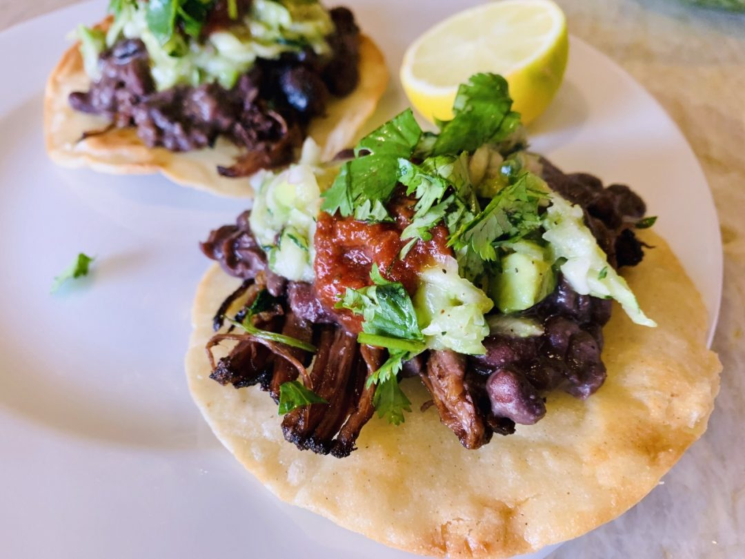 Beef & Black Bean Tostadas with Zucchini Relish – Recipe! Image 1