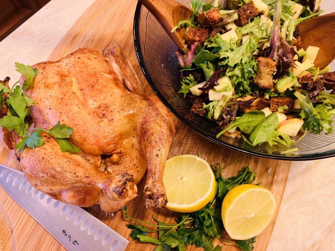 Roast Chicken with Crispy Crouton Salad – Recipe! Image 1