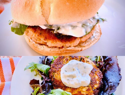 Salmon Quinoa Burgers with Creamy Horseradish Spread – Recipe!