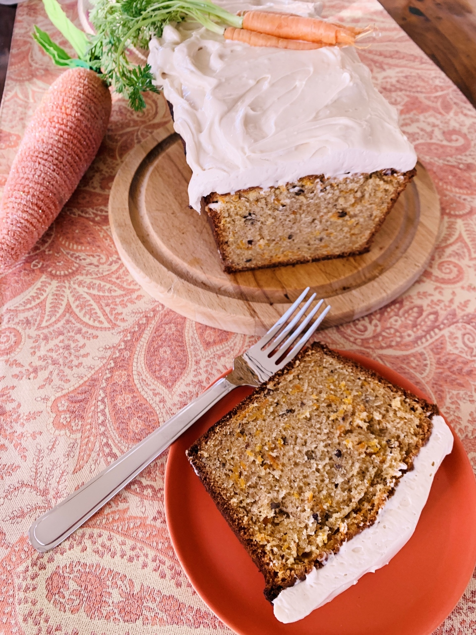 Carrot Loaf Cake with Maple Cream Cheese Frosting – Recipe! Image 1