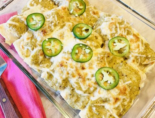 Pork & Potato Enchiladas Verdes – Recipe!