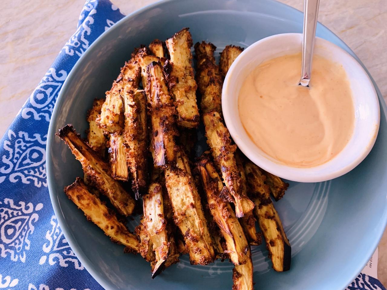 Baked Eggplant Fries with Sriracha Mayo – Recipe! Image 2