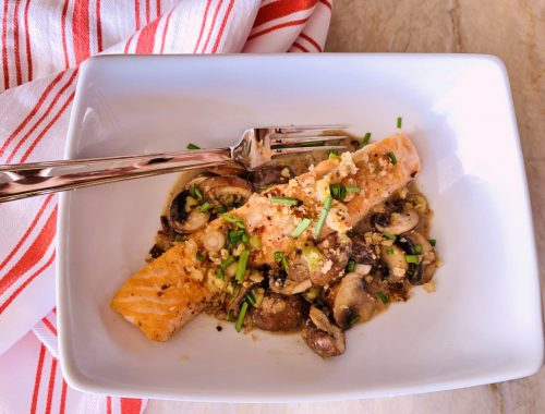 Salmon with Miso & Mushrooms – Recipe!