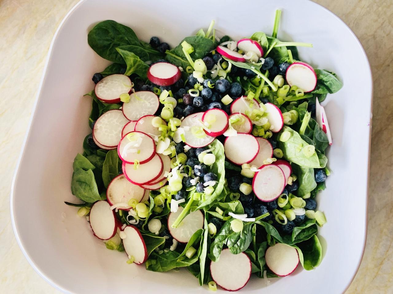 Blueberry, Radish & Spinach Salad with Creamy Vinaigrette – Recipe! Image 3