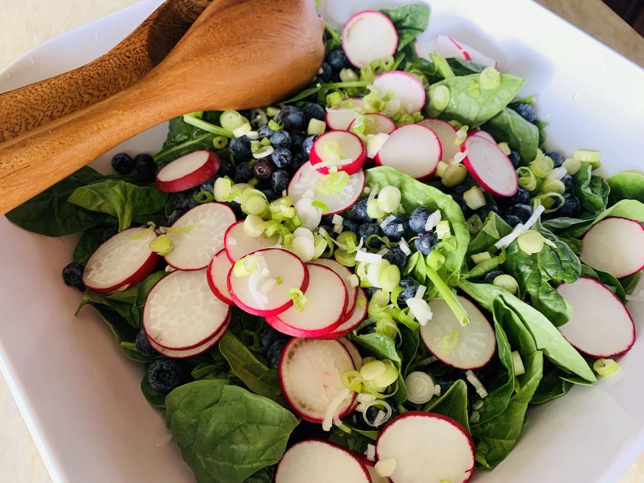 Blueberry, Radish & Spinach Salad with Creamy Vinaigrette – Recipe! Image 2