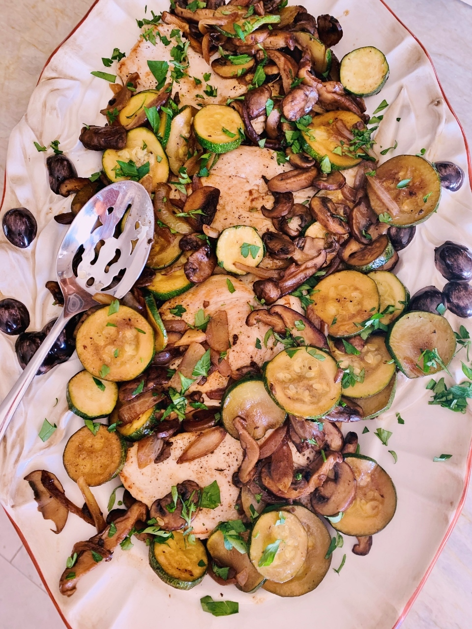 Chicken Paillard with Zucchini and Mushrooms – Recipe! Image 1