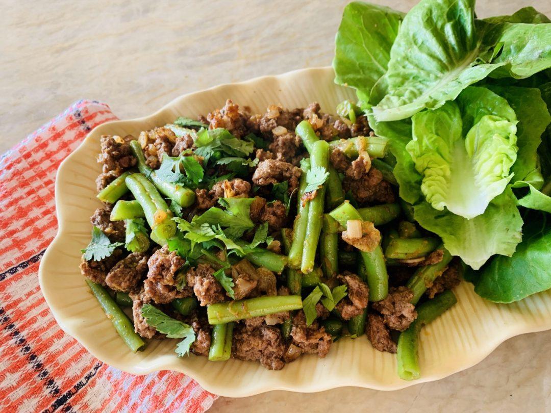 Ground Lamb & Green Bean Lettuce Wraps with Ethiopian Flavors – Recipe! Image 1