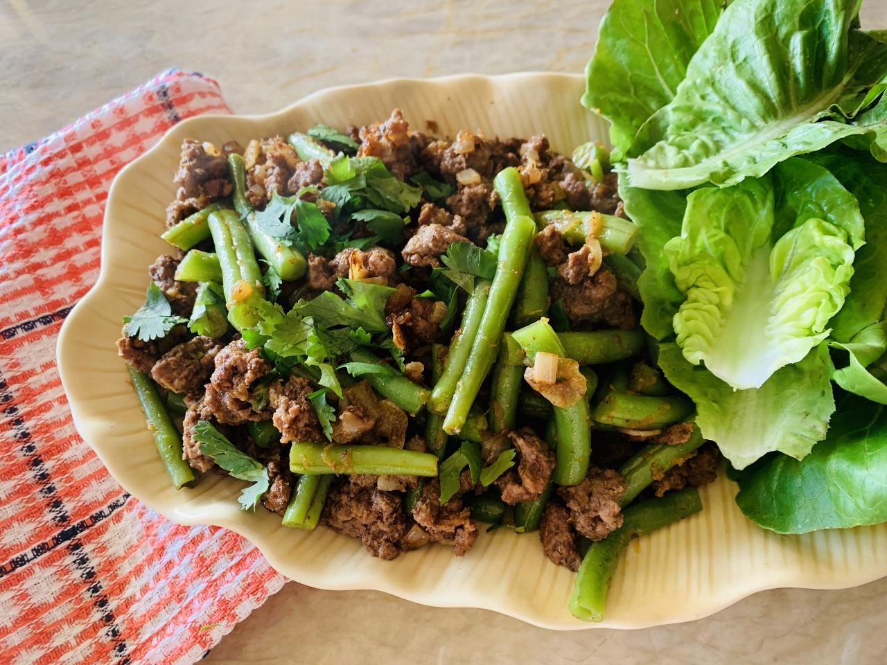Ground Lamb & Green Bean Lettuce Wraps with Ethiopian Flavors – Recipe! Image 2