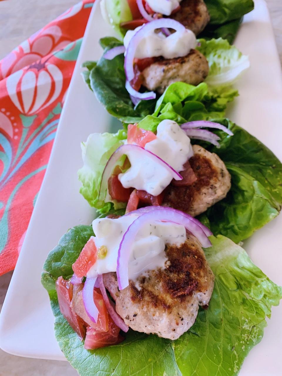 Greek Mini Turkey Burger Lettuce Wraps – Recipe! Image 2