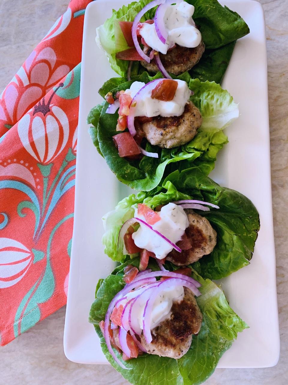 Greek Mini Turkey Burger Lettuce Wraps – Recipe! Image 6