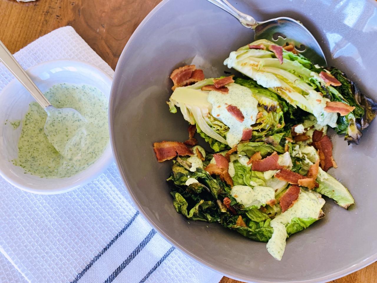 Grilled Gem Lettuce Salad with Green Goddess & Bacon – Recipe!! Image 2