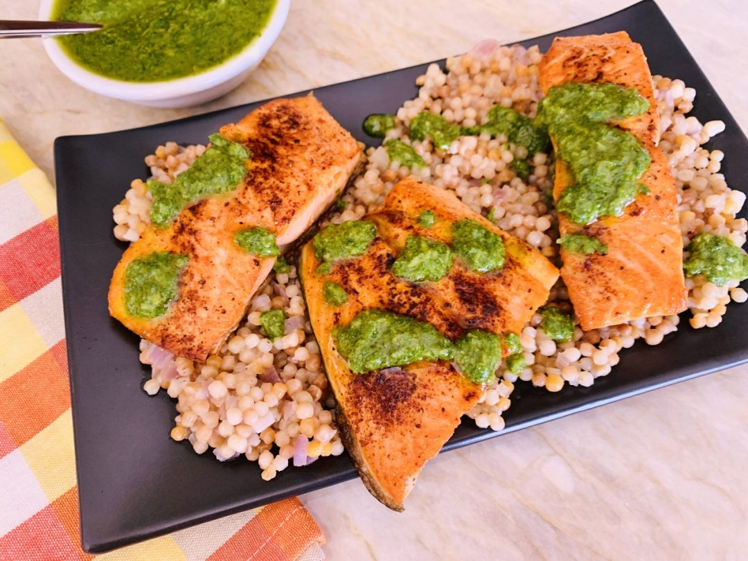 Seared Salmon with Israeli Couscous & Gremolata – Recipe! Image 1