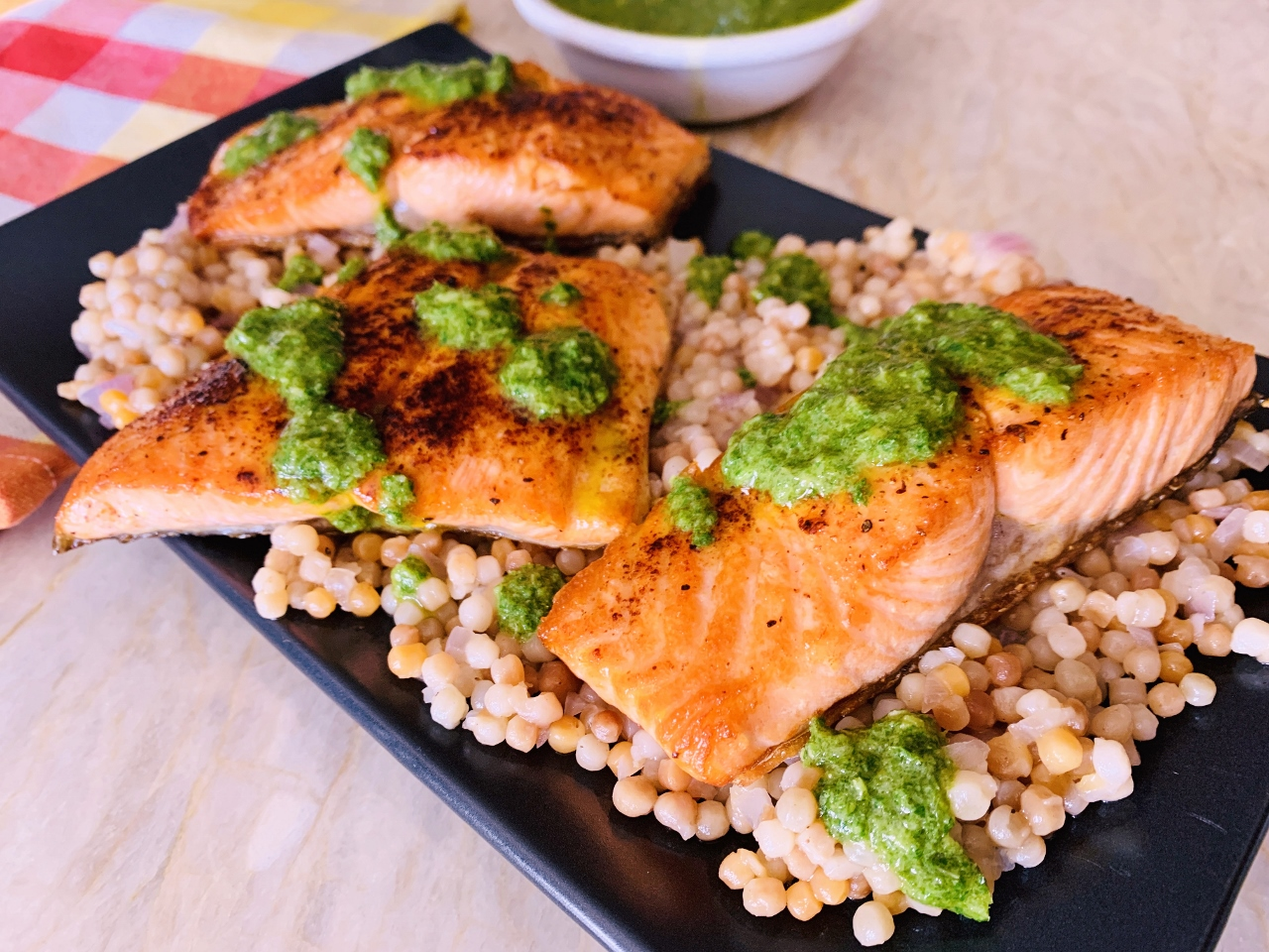 Seared Salmon with Israeli Couscous & Gremolata – Recipe! Image 2