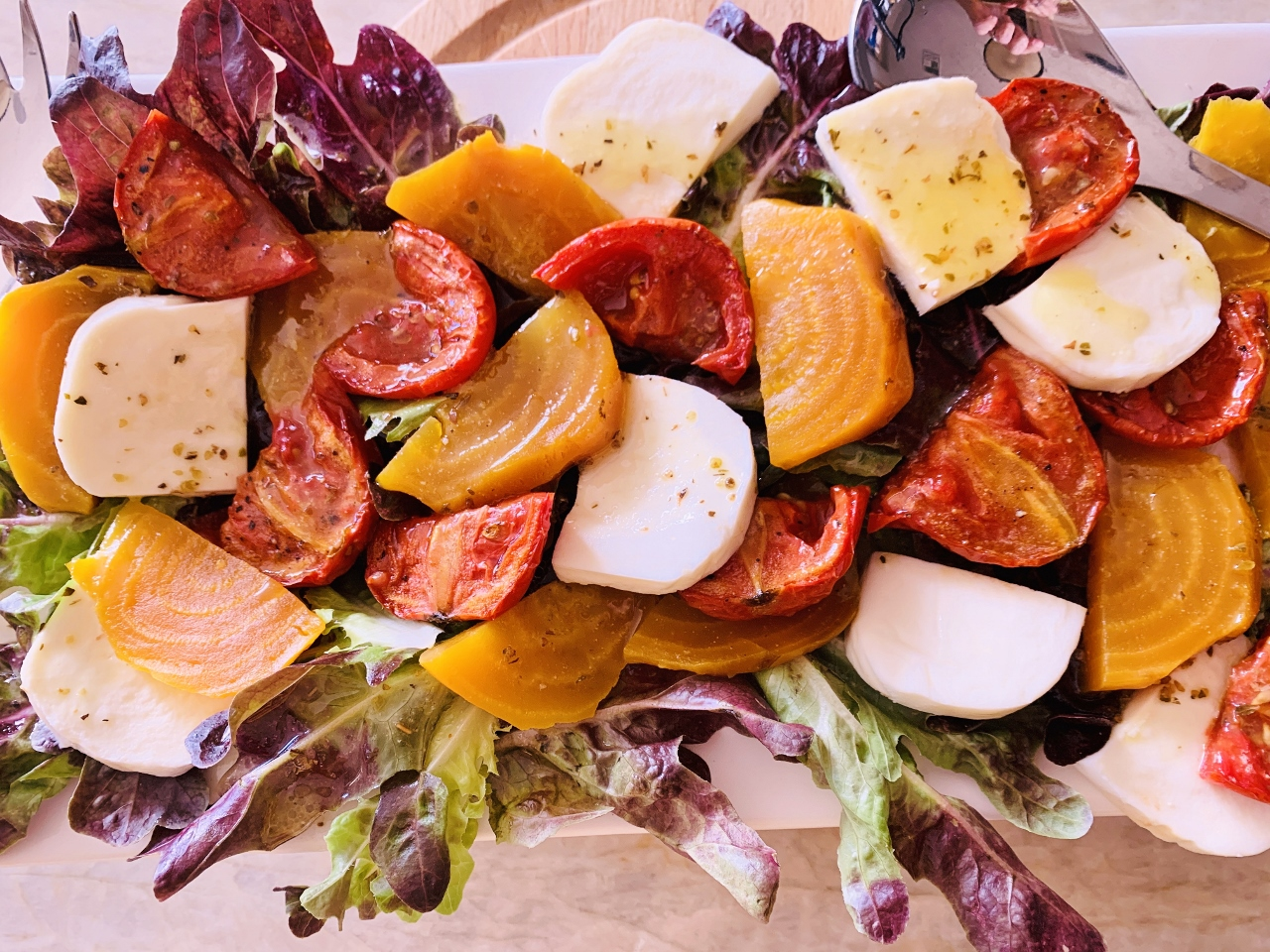 Slow Roasted Tomato & Golden Beet Salad – Recipe! Image 2