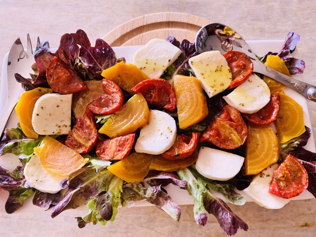 Slow Roasted Tomato & Golden Beet Salad – Recipe! Image 1