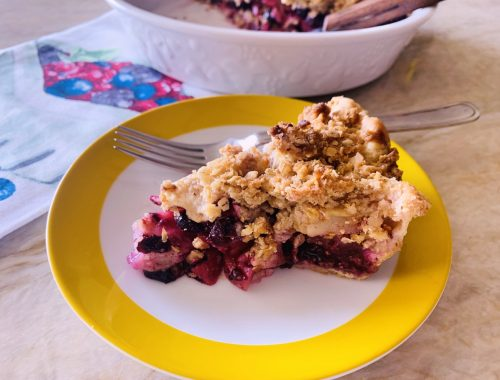 Apple Blueberry Crumb Pie – Recipe!