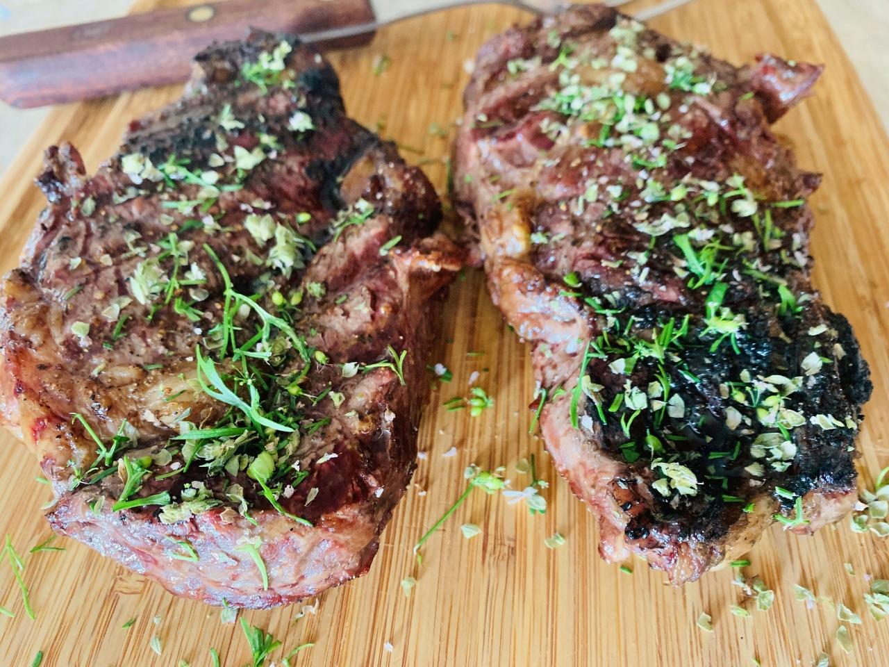Grilled Ribeye Steaks with Flowering Herbs – Recipe! Image 4