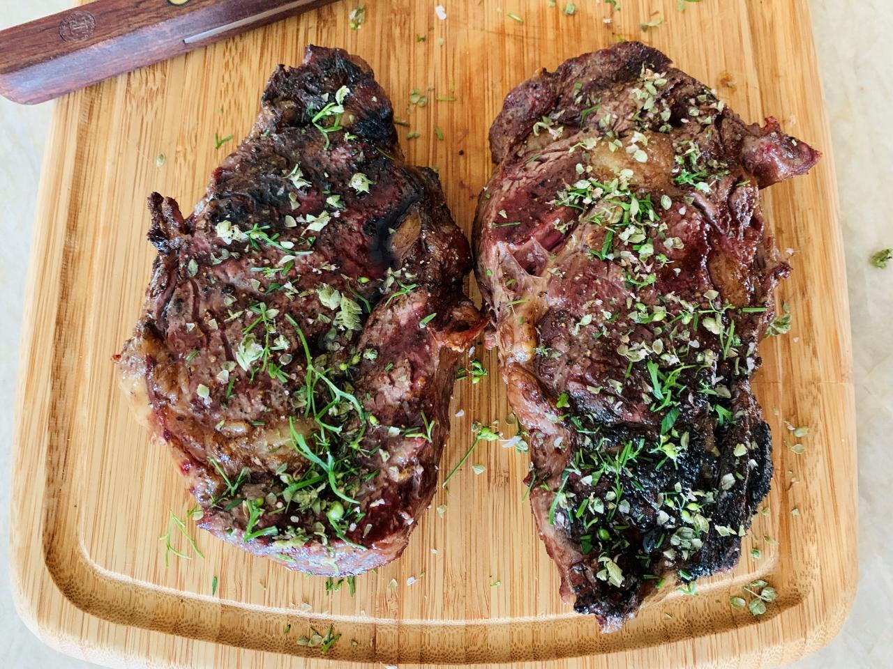 Grilled Ribeye Steaks with Flowering Herbs – Recipe! Image 2