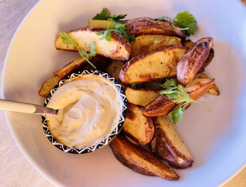 Roasted New Potato Wedges with Smoky Aioli – Recipe!