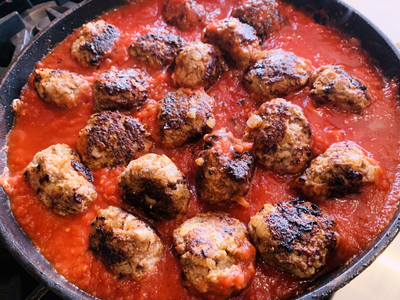 Meaty Fennel Meatballs Over Wilted Spinach – Recipe! Image 6