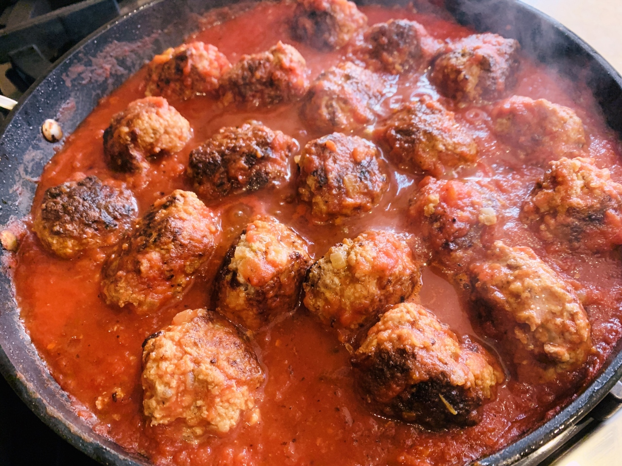 Meaty Fennel Meatballs Over Wilted Spinach – Recipe! Image 7