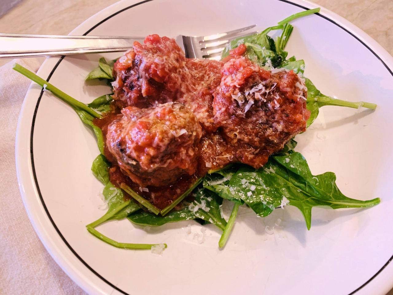 Meaty Fennel Meatballs Over Wilted Spinach – Recipe! Image 2