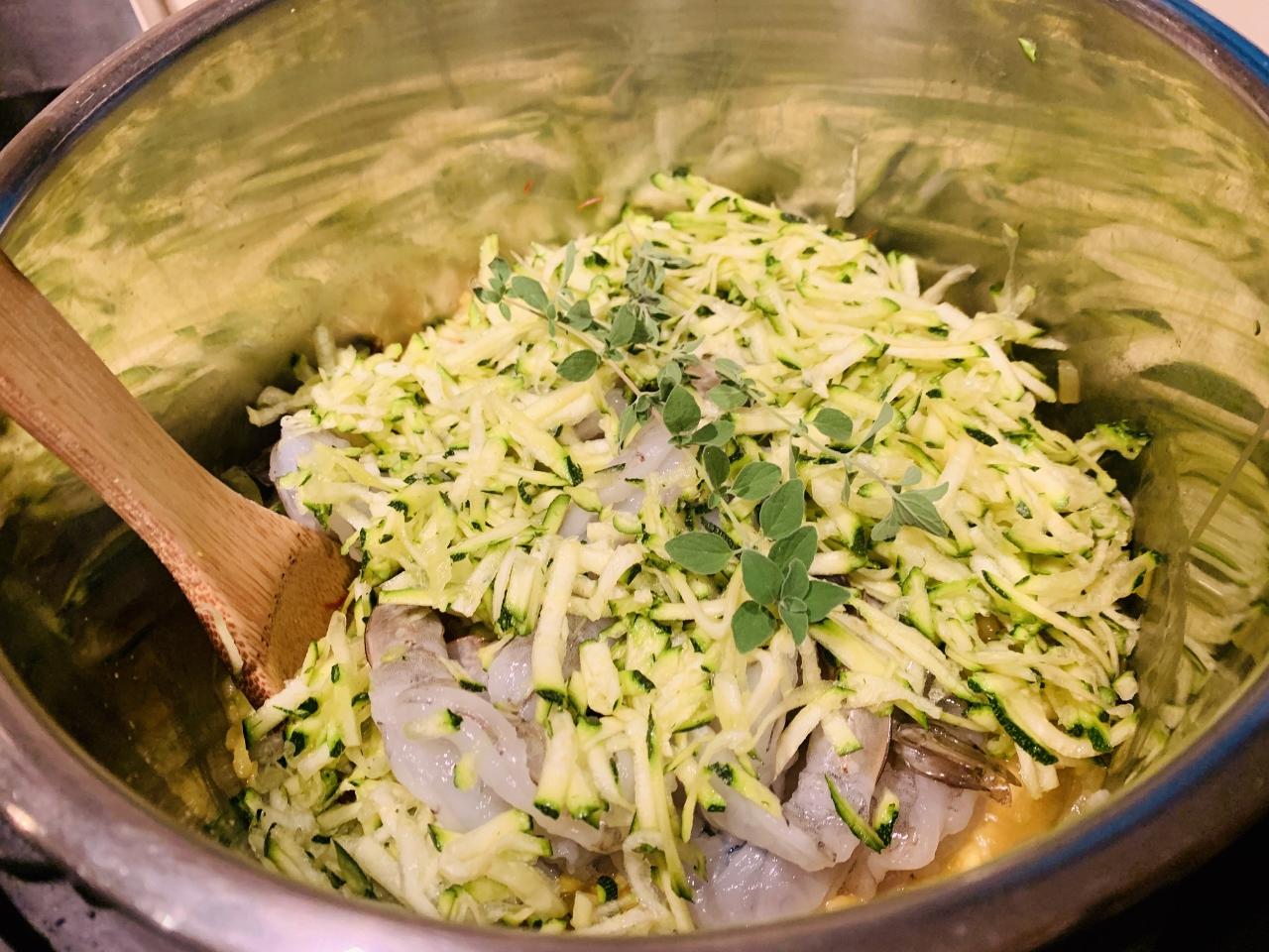 Instant Pot Saffron Shrimp & Zucchini Risotto – Recipe! Image 4