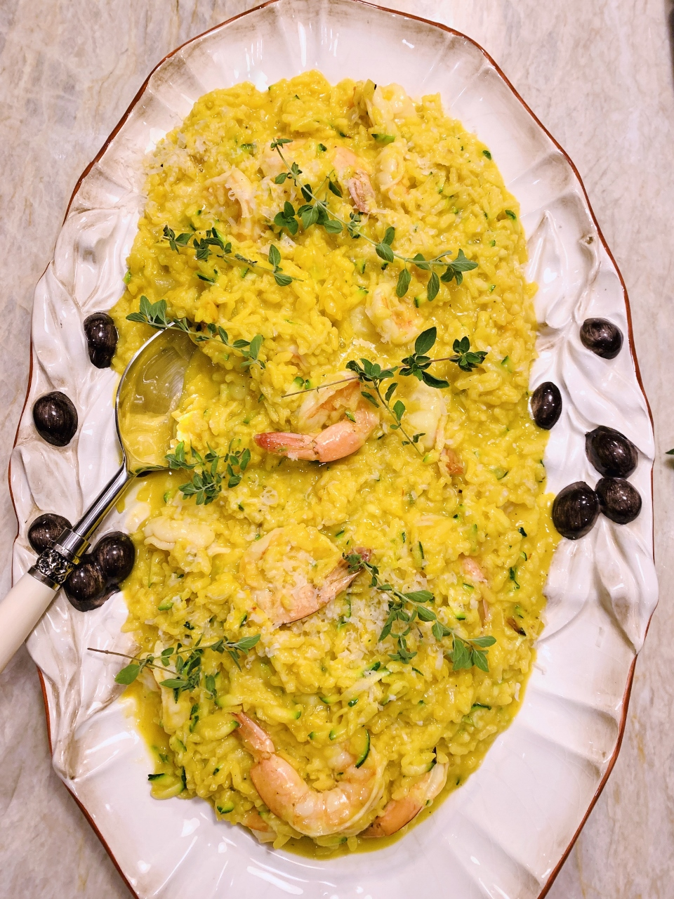 Instant Pot Saffron Shrimp & Zucchini Risotto – Recipe! Image 1