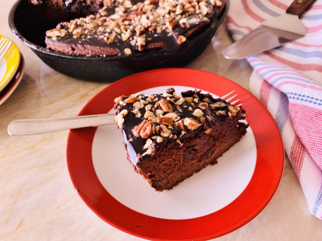 Texas Chocolate-Pecan Skillet Cake – Recipe & Video! Image 1
