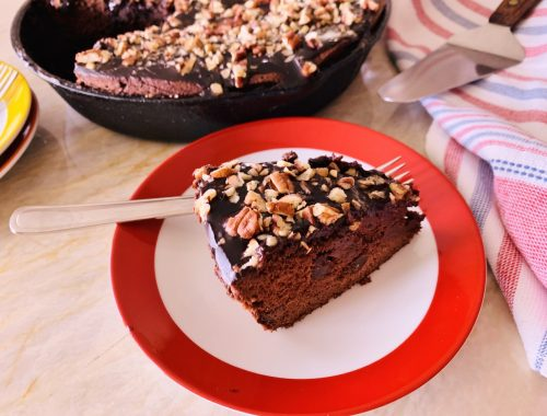 Texas Chocolate-Pecan Skillet Cake – Recipe & Video!