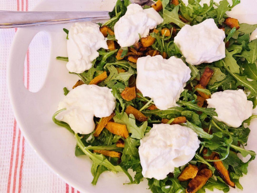 Roasted Butternut Squash & Arugula Salad with Burrata – Recipe! Image 1